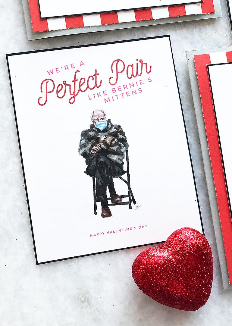 Bernie Sanders Printable Valentine