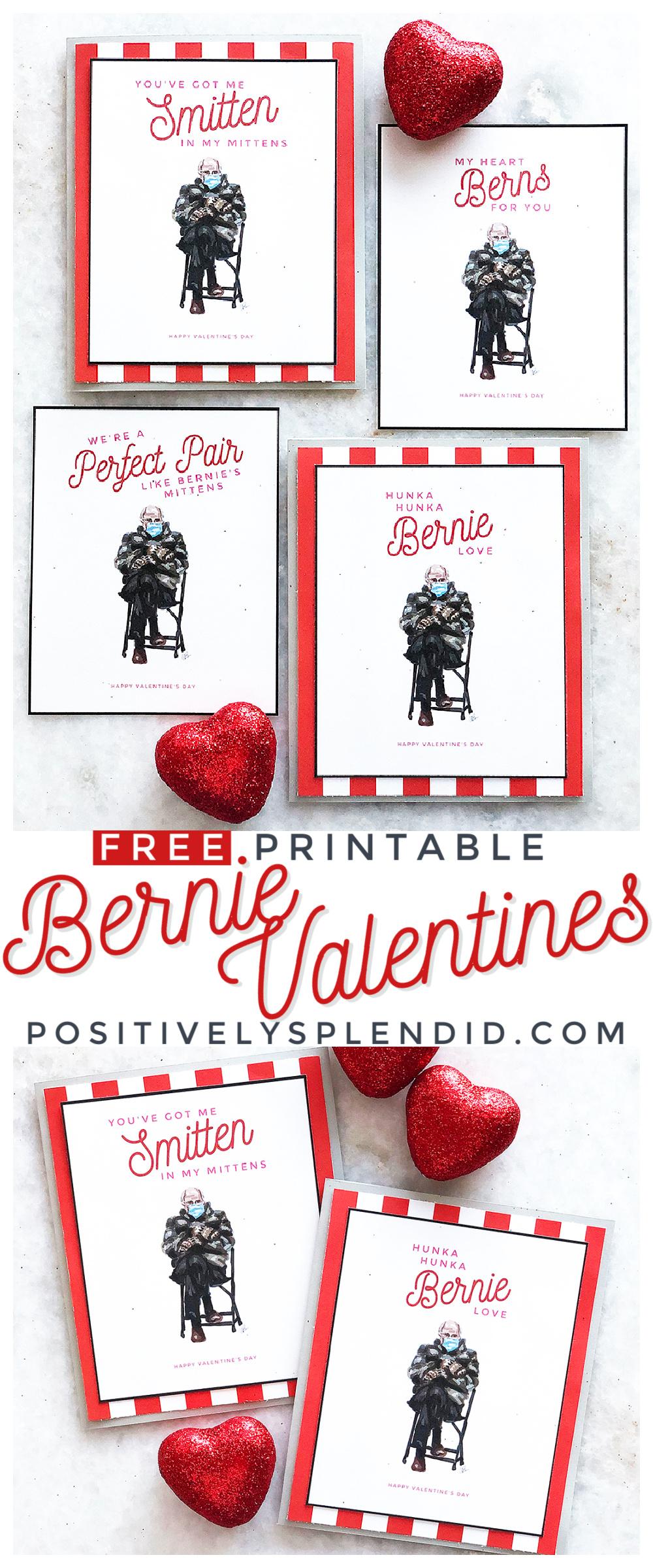 Free Printable Bernie Sanders Valentines