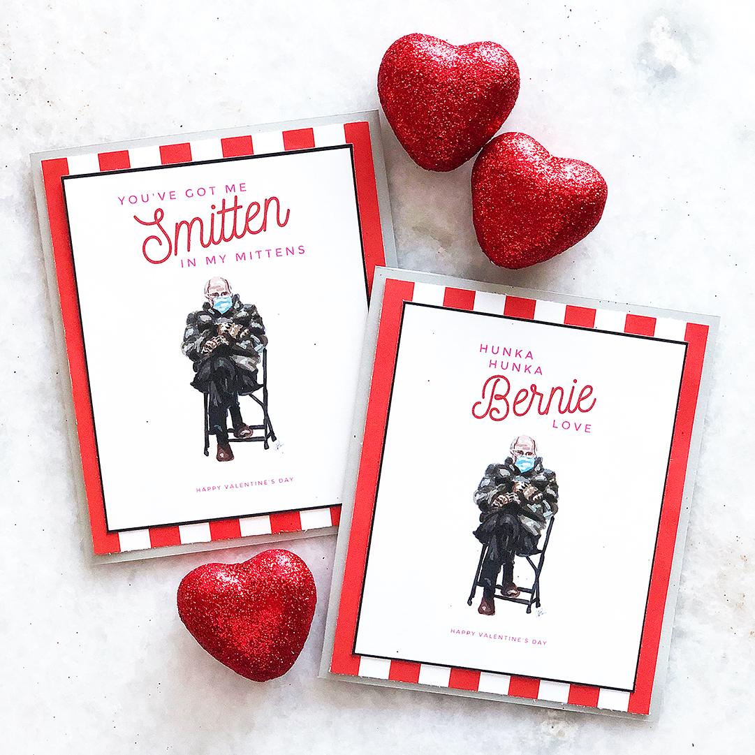 Printable Bernie Valentine Cards